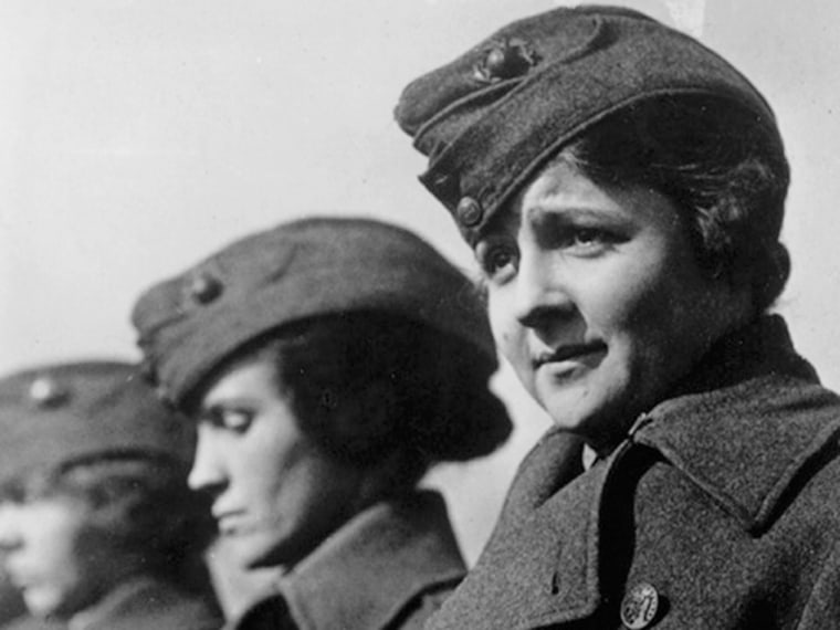 Image: A female member of the U.S. Marine Corps from World War I