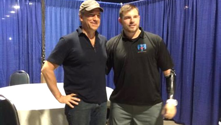 IMAGE: Mike Rowe and Travis Mills