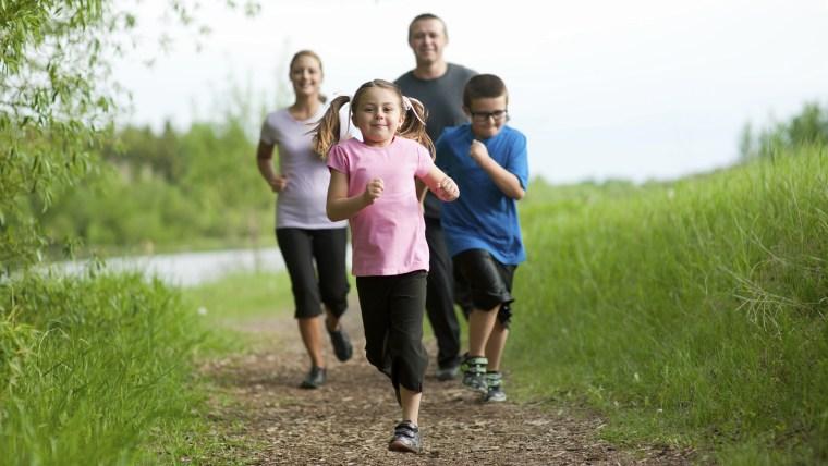 family, exercise, jog, kids, parents, run, hike,
