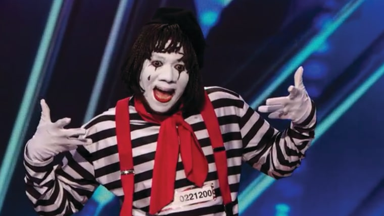 Image: Nick Cannon as a mime