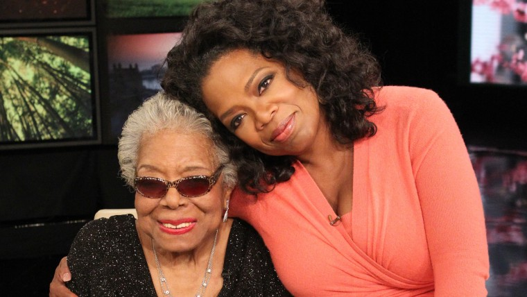Image: Oprah Winfrey with Maya Angelou.