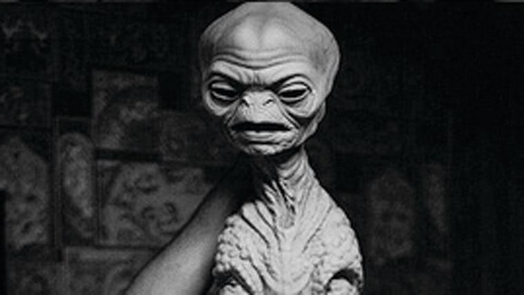 """""""Night Skies"""" alien prototype by Rick Baker."""