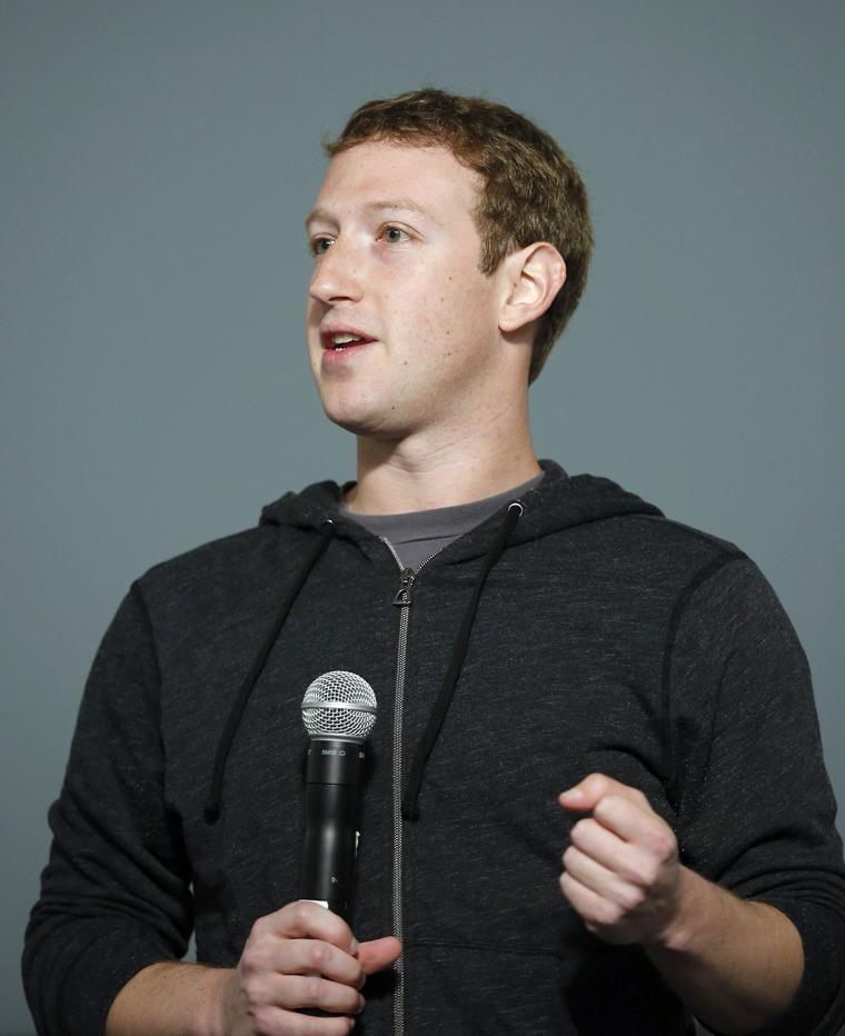 Mark Zuckerberg in a hoodie