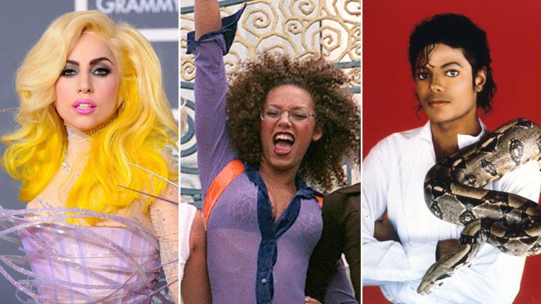Image: Lady Gaga, The Spice Girls and Michael Jackson.