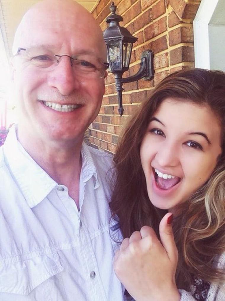 Saira with her father, Craig Blair, a West Virginia state senator.