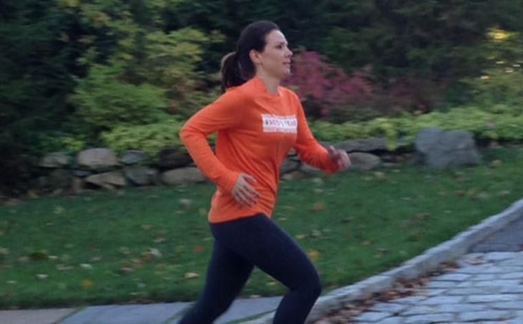 Erica Hill running