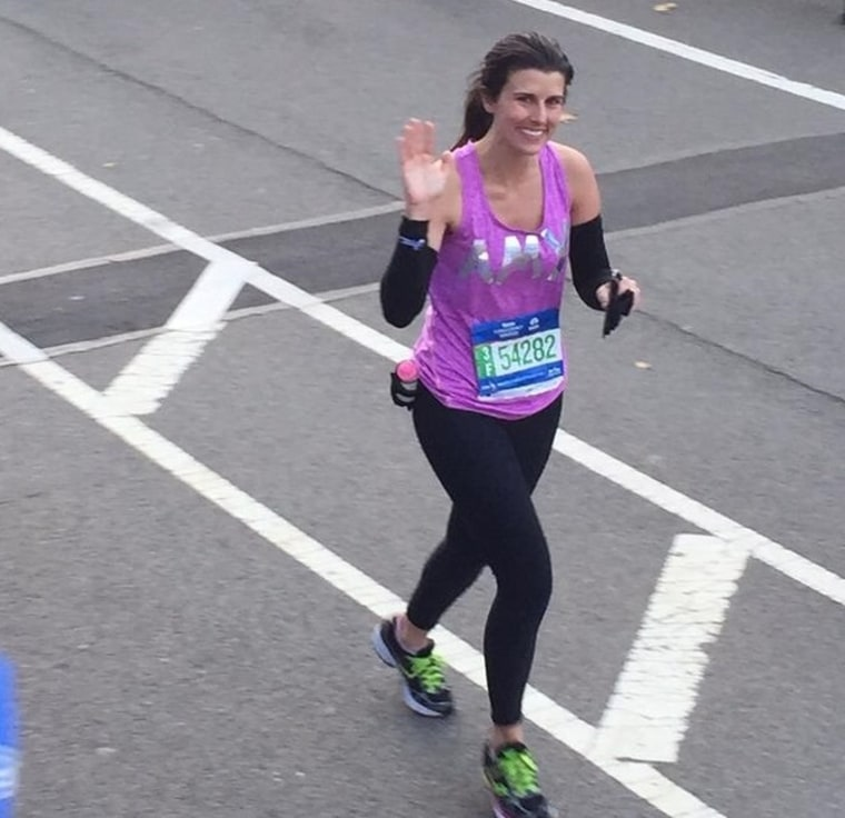 Amy Eley running the New York City Marathon