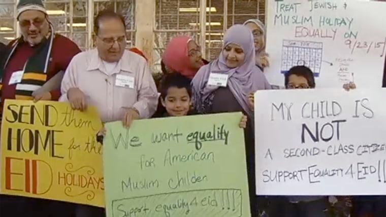 School board protesters