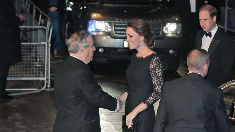 Britain's Prince William and Kate, Duchess of Cambridge arrive to attend the Royal Variety Performance, at the Palladium Theatre, in central London, T...