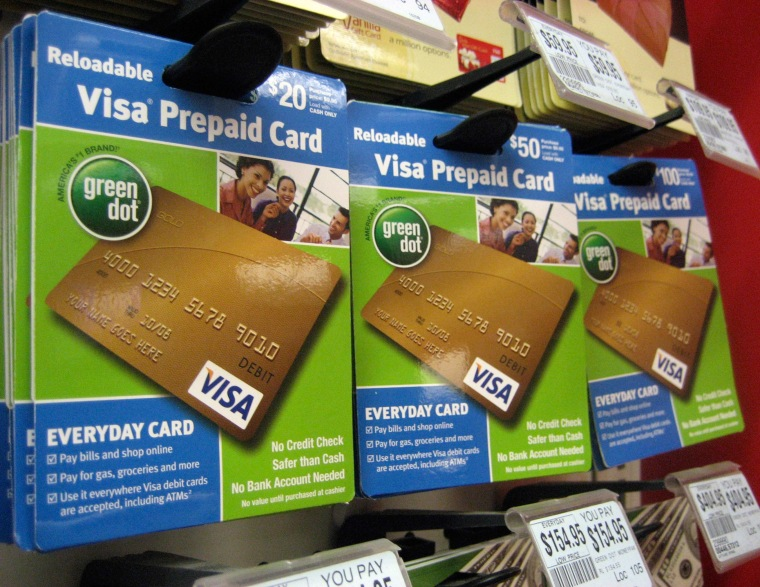 Prepaid cards at a Duane Reade drug store in New York.