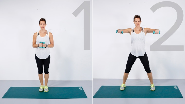 Image: Jenna Wolfe works out