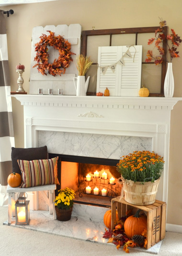 Get inspired with these Thanksgiving mantels from Pinterest