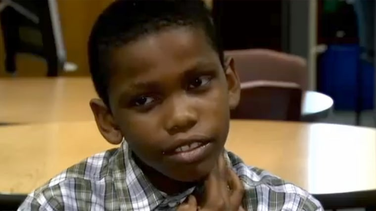 10-year-old Tashawn Roberts unknowingly discovered an aneurysm in his neck during a school lesson.