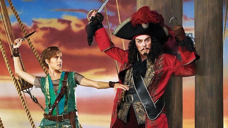 PETER PAN LIVE!  Season: 2014  Pictured: (l-r) Allison Williams as Peter Pan, Christopher Walken as Captain Hook