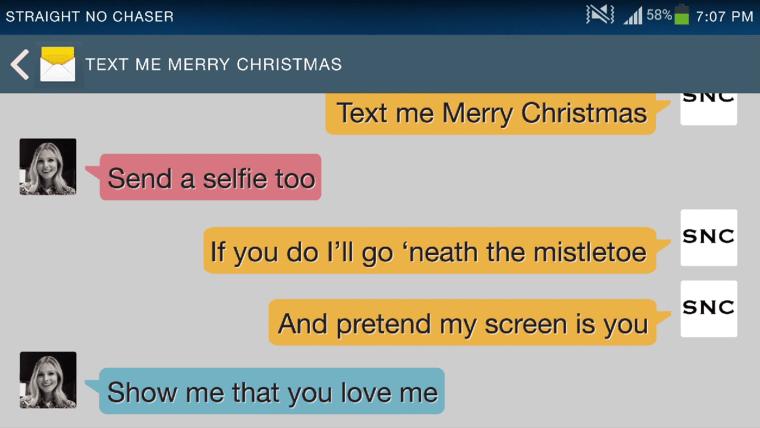 Kristen Bell Text me a merry Christmas