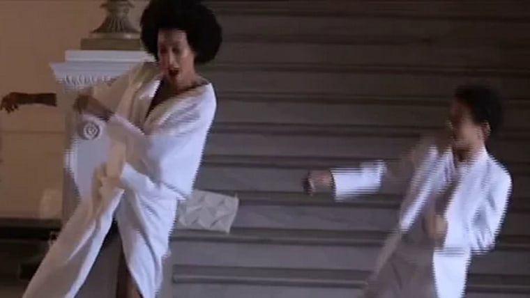 Solange and son Julez show off smooth moves in this mother-son wedding dance.