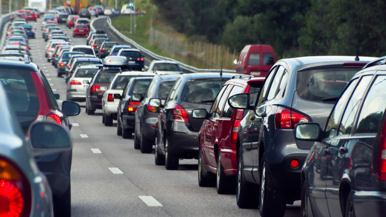 STOCKHOLM, SWEDEN - JULY 30, 2011: Typical scene during rush hour  in Stockholm. A traffic jam with rows of cars.  Shallow depth of field.; Shuttersto...