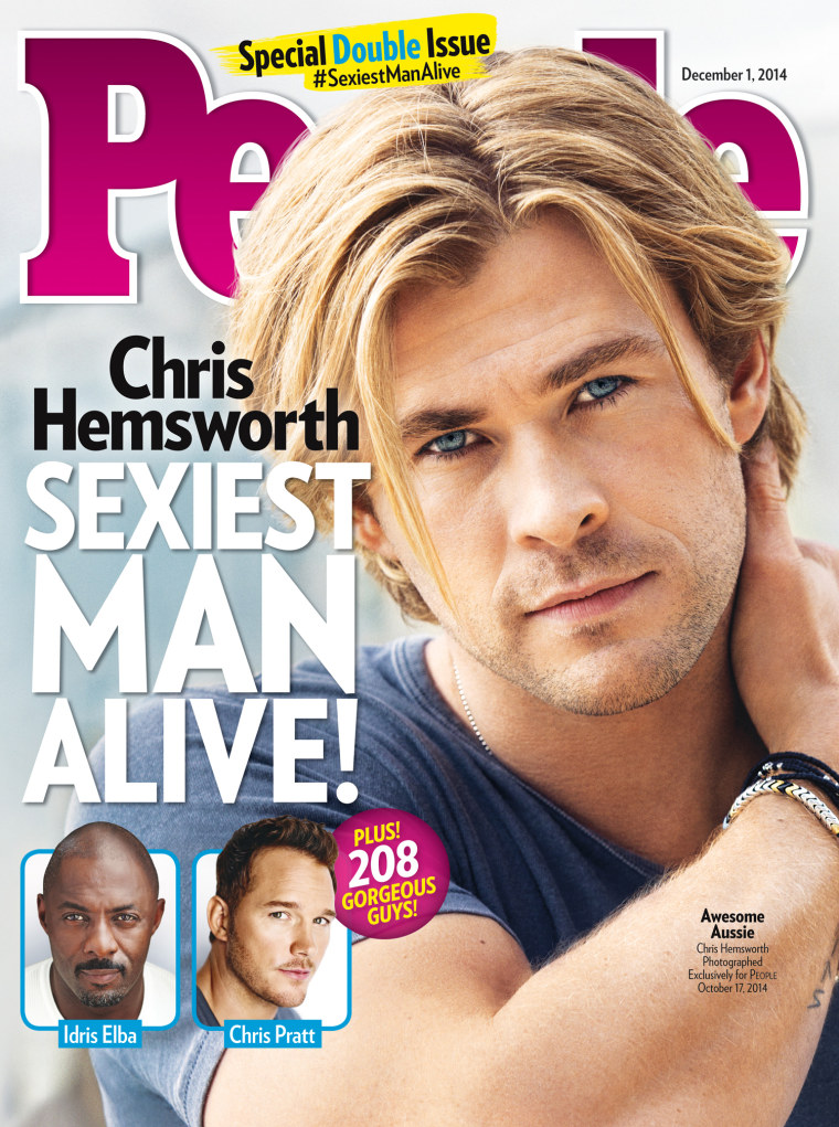 Chris Hemsworth named People's 'Sexiest Man Alive'