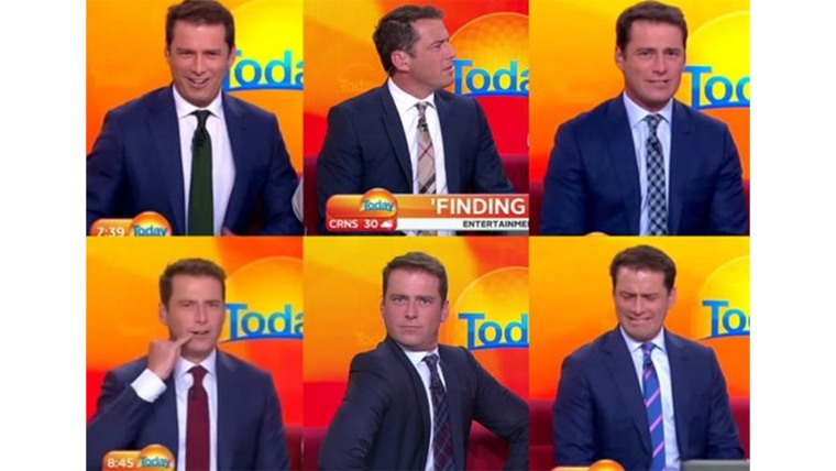 Karl Stefanovic and his suit
