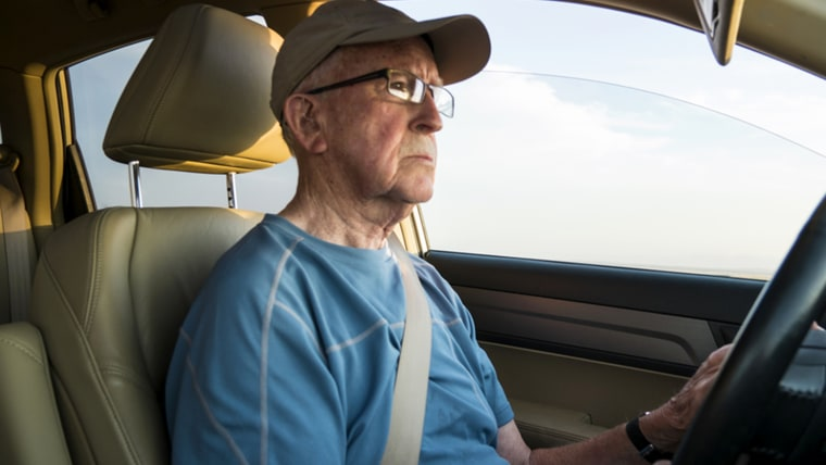 elderly, senior, drive, car, old