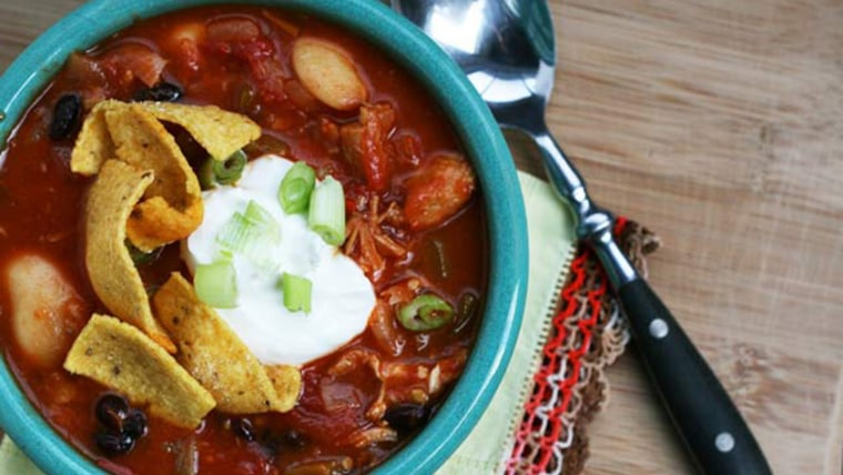 Turkey chili with leftover Thanksgiving turkey