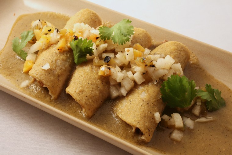 Trio of enchiladas by chef Rick Bayless