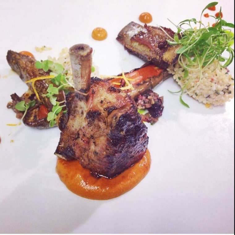 Grilled lamb by chef Todd English