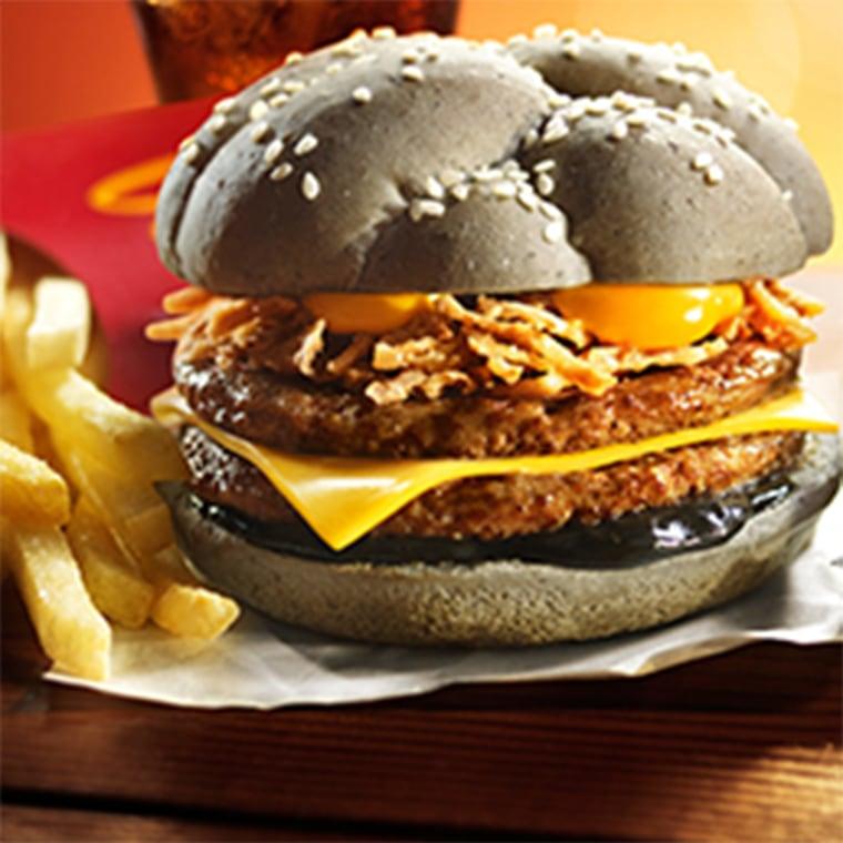 McDonald's Squid Ink Burger
