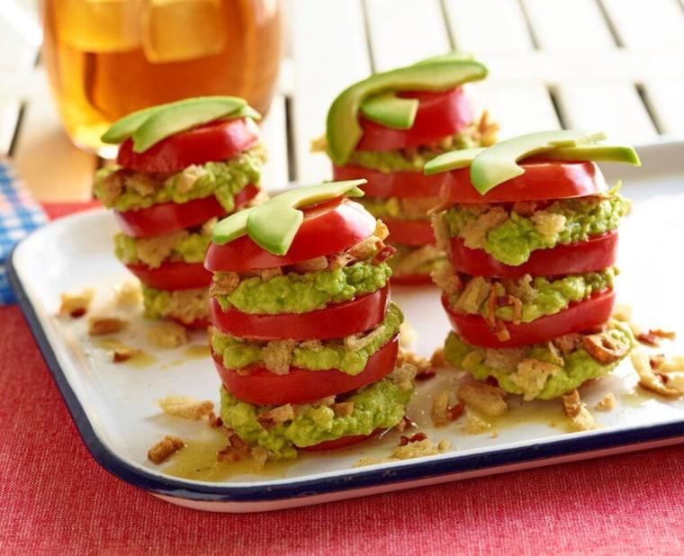 Chef Susan Feniger's avocado and tomato salad with bacon vinaigrette