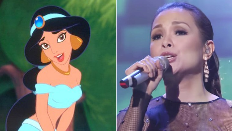 Jasmine character and Lea Salonga