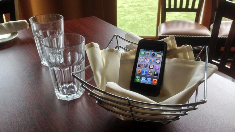 IMAGE: Phone in basket