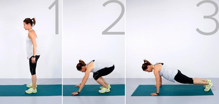 Image: Jenna Wolfe demos the Burpies workout