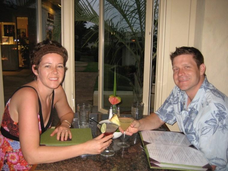 Sheila Cain and husband.