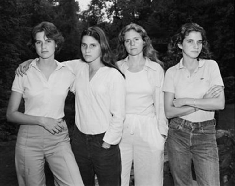 """The 1975 photo that started the annual series of """"Brown sisters"""" photos."""