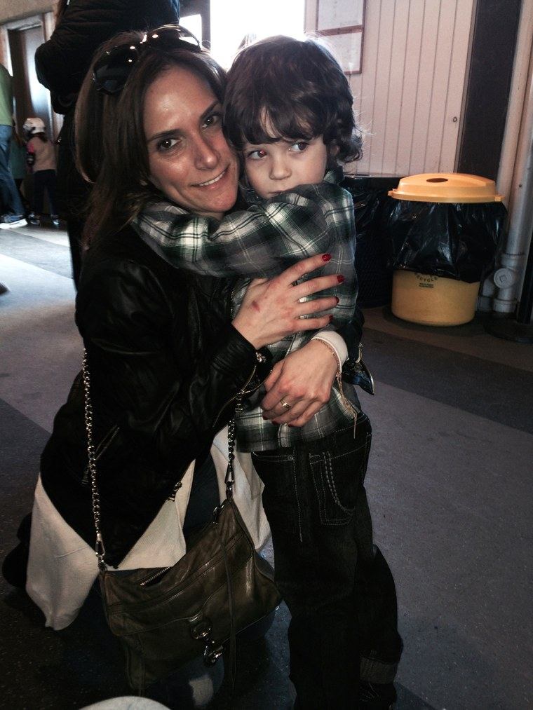 Melissa Girard and her son