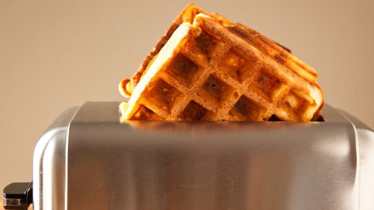 Pop goes breakfast: The bacon's already inside these way-easy waffles