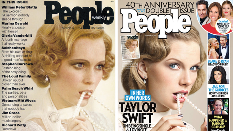 Image: Mia Farrow and Taylor Swift on People