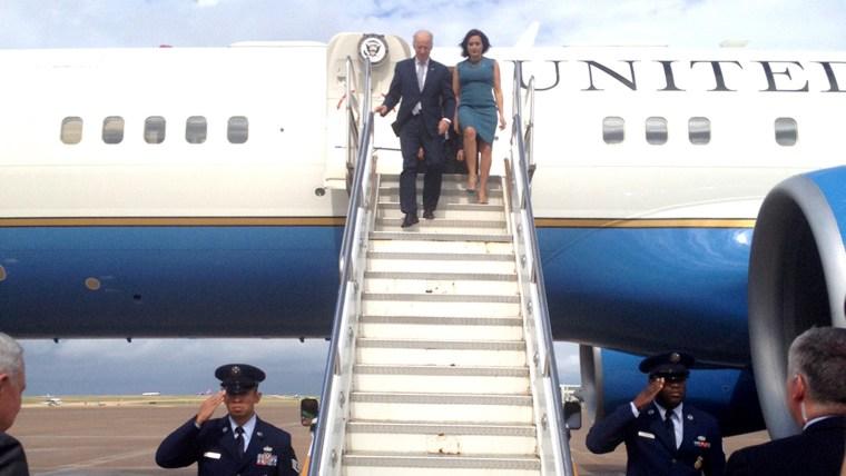 "Vice President Joe Biden and ""Law & Order: SVU"" star Mariska Hargitay"