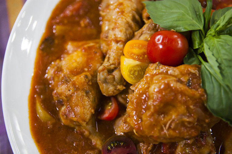 One-pot chicken cacciatore from the Scottos