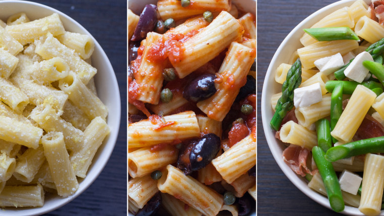 3-ingredient pasta recipes from Giada De Laurentiis; photos by Megan O. Steintrager