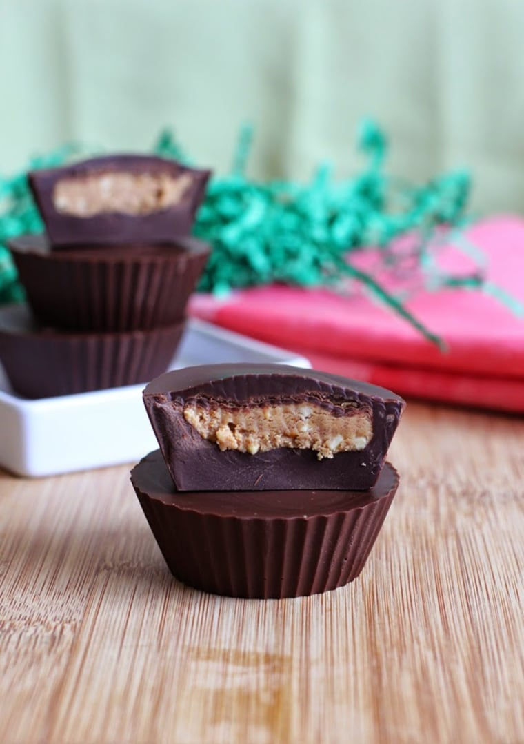 Homemade Reese's peanut butter cups from Fake Free Food