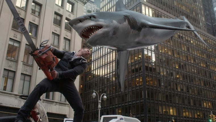 Ian Ziering as Fin Shepard in Sharknado 2.