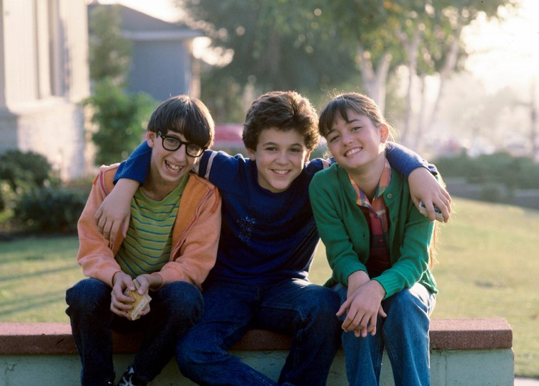 """THE WONDER YEARS - """"The Heart of Darkness"""" - Season Two - 11/30/88 Paul (Josh Saviano, left) and Kevin (Fred Savage) wanted to join the in-crowd with ..."""