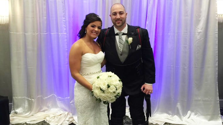 Matt Ficarra, who is paralyzed from the chest down, was able to walk down the aisle at his Oct. 18 wedding to Jordan Basile, thanks to rehabilitation ...