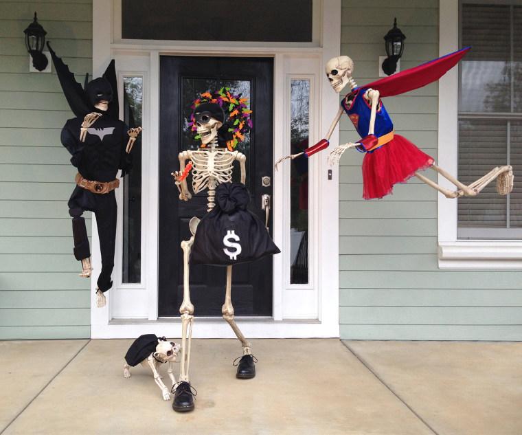 IMAGE: Superhero skeletons