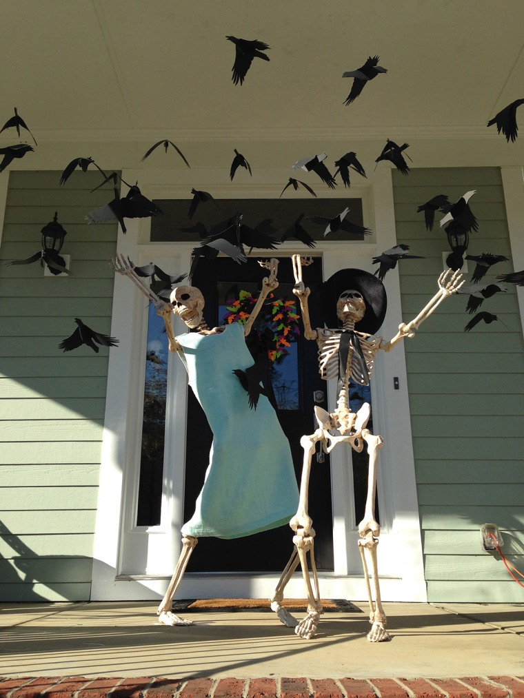 IMAGE: Skeletons with birds
