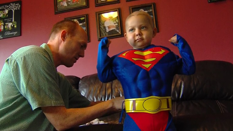Utah boy Ethan Van Leuven, 4, put on his Superman costume 10 days early for Halloween as his town celebrates the holidays early in his honor while he battles terminal cancer.