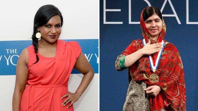 Mindy Kaling, Malala Yousafzai