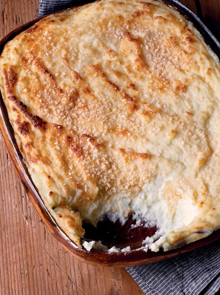 Make-ahead goat cheese mashed potatoes recipe from Ina Garten