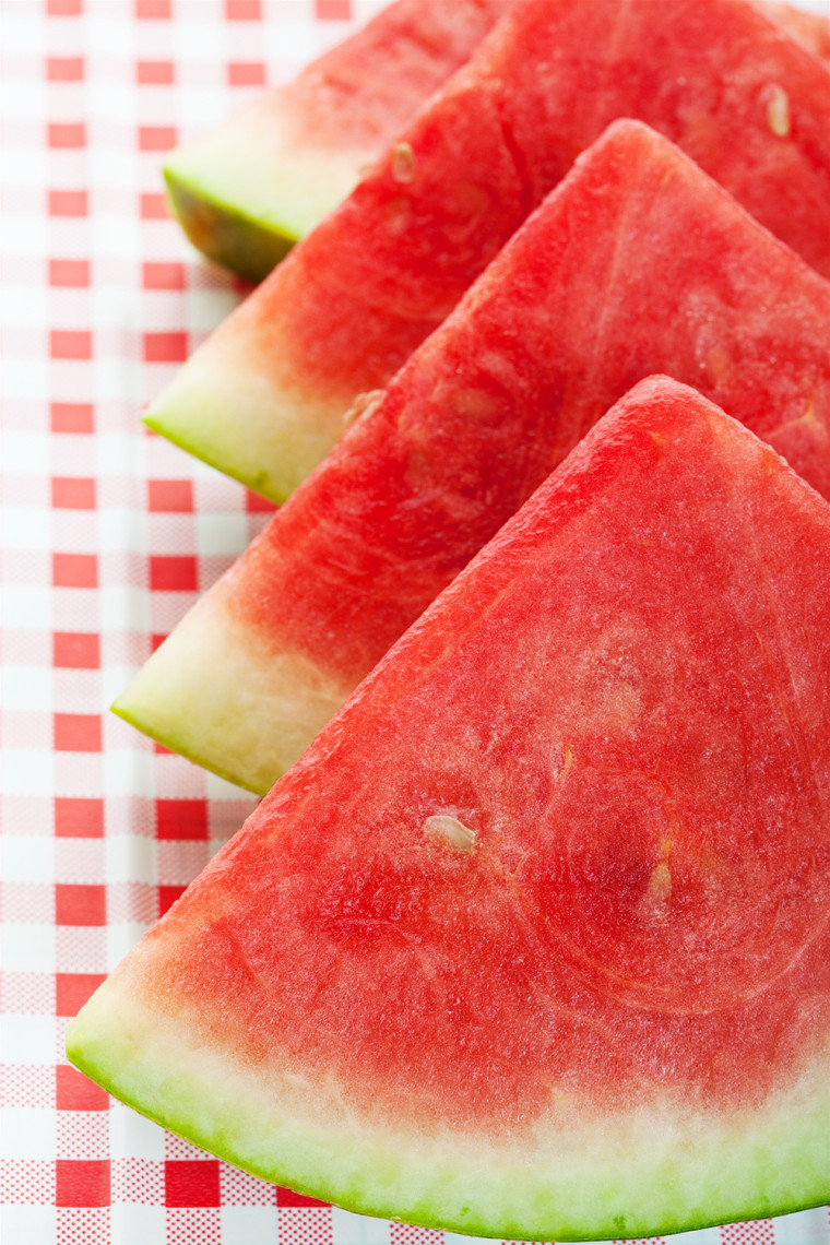 Four watermelon wedges